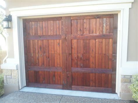 austin garage door staining