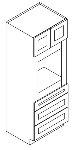 Forevermark-TSG OC3384B: Oven Cabinet: Gramercy White RTA