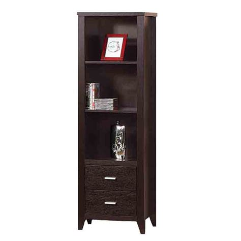 Bookcase Tower by Media Tower Bookcase Storage Drawer Shelves Cabinet