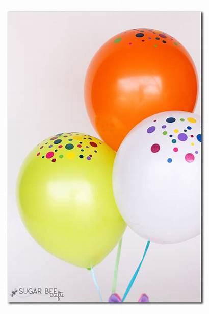 Balloons Confetti Balloon Vinyl Present Birthday Creative