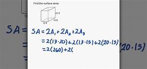 How to Find the surface area of a rectangular prism « Math ...