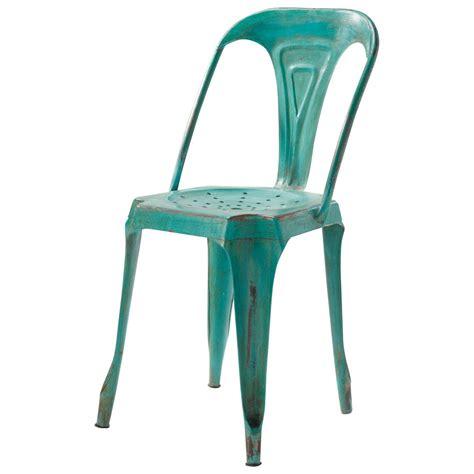chaises maison du monde chaise indus en métal verte multipl 39 s maisons du monde