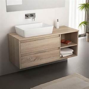 meuble salle de bain cambrian 120 cm 2 tiroirs terra With meuble salle de bain 120 bois