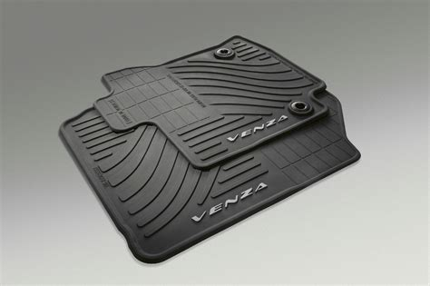 floor mats toyota 2013 14 oem toyota venza black all weather floor mat set of 4 pt206 0t130 20 ebay