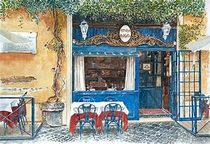 Osteria Margutta Rome Italy Painting by Anthony Butera