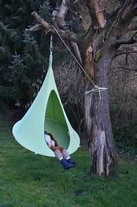 Fauteuil Suspendu Enfant : fauteuil suspendu bebo tente 120 cm pour enfant vert cacoon made in design ~ Melissatoandfro.com Idées de Décoration