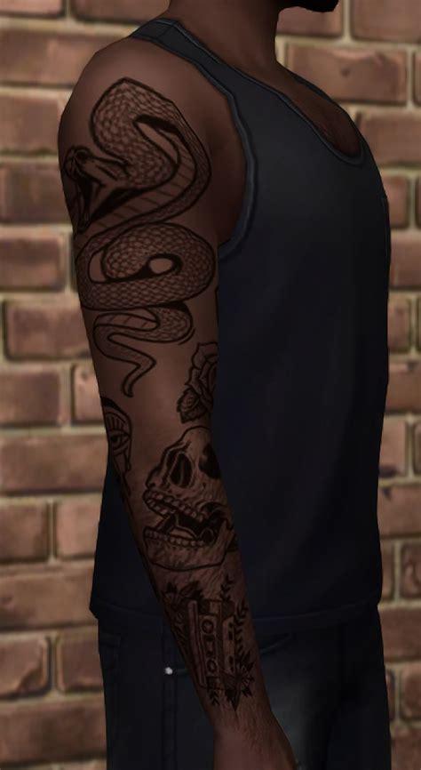 sims  cc maxis match wrixles wolfgang  tattoo