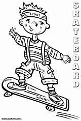 Skateboard Coloring Coloringway sketch template