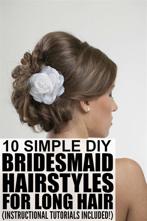 10 bridesmaid hairstyles for long hair