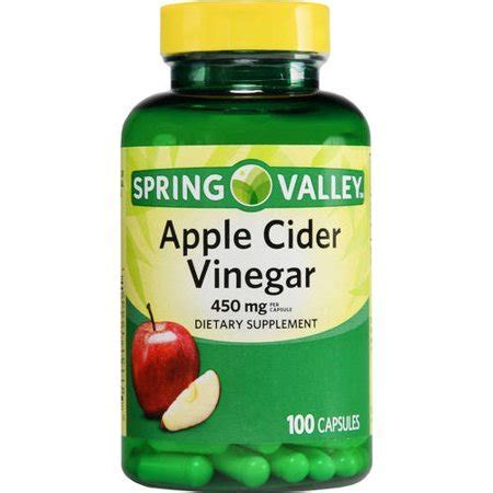 Spring Valley Apple Cider Vinegar Capsules, 450 Mg, 100 Ct