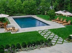 amenagement jardin paysager autour dune piscine 40 With amenagement de terrasse exterieur 11 terrasse piscine galets
