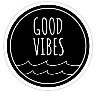 'Good Vibes' Sticker by livelycoastin | Black stickers ...