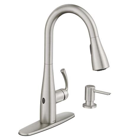 moen motionsense kitchen faucets moen essie touchless single handle pull sprayer