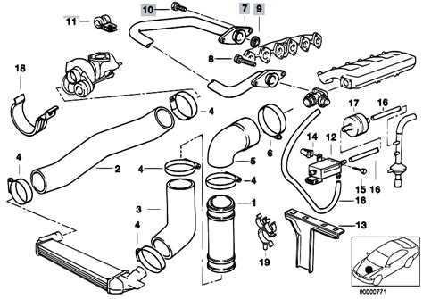 2001 Bmw 325i Engine Component Diagram by Original Parts For E34 525tds M51 Touring Engine Intake