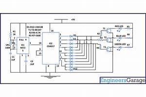 Ic555, Based, Multicolor, Led, Lamp, Circuit, Diagram