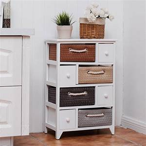 4, Drawer, 4, Woven, Basket, Storage, Unit, Rack, Chest, Cabinet, U2013, By, Choice, Products