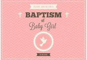 Free Baby Girl Baptism Vector Invitation - Download Free ...