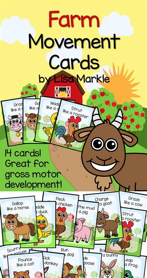 farm animal movement cards for preschool and brain 128 | 9cd58f27cc7664eb23fbf0df5e2c5549