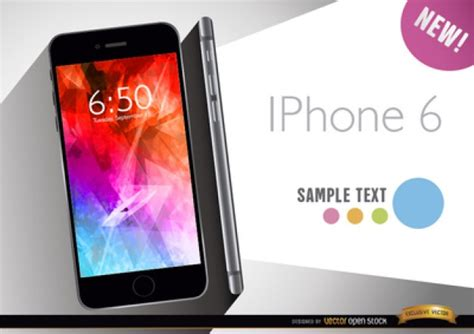apple iphone 6 for promo vector free