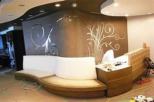 Decorative interior wall art show room design mirror