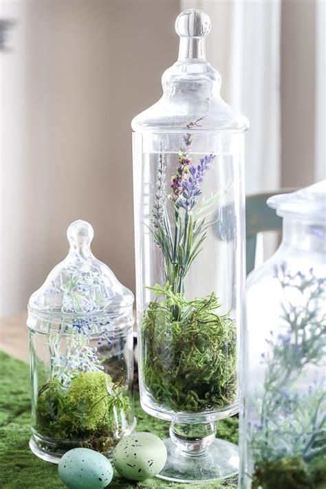 Bathroom Apothecary Jar Ideas by Apothecary Jar Terrarium Easter Centerpiece