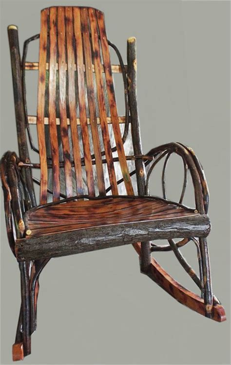 amish furniture adults hickory rocker with burnt cherry