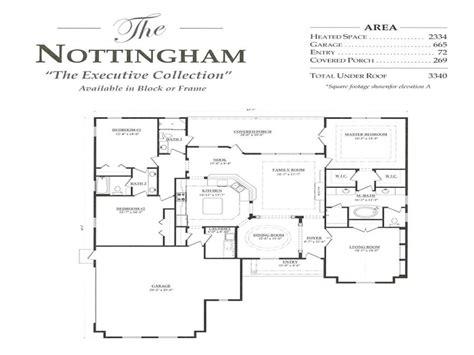 3 bedroom ranch floor plans nottingham a 3 bedroom 3 bath home in build on your lot a