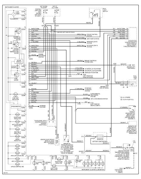 Wiring Diagram For 2002 Ford Ranger by 02 Ranger No Brake Warning Light In The Cluster