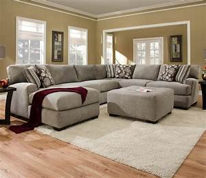 Sectional sofa with 5 seats 1 is a chaise alexandria for Laurel 4 piece sectional sofa