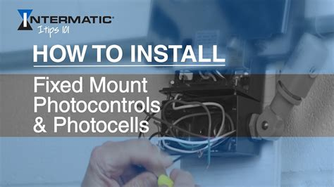 install fixed mount photocontrols photocells