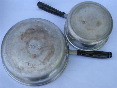 deco vintage aluminum cookware saute sauce pans wlids