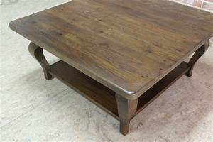 42inch Square Farmhouse Coffee Table - ECustomFinishes