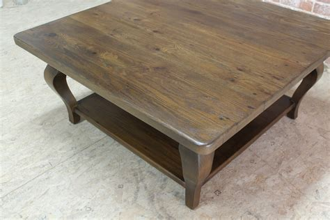 This post contains affiliate links. 42inch Square Farmhouse Coffee Table - ECustomFinishes