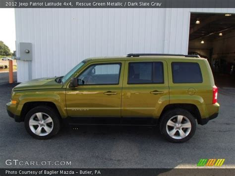 dark green jeep patriot rescue green metallic 2012 jeep patriot latitude 4x4
