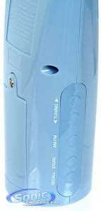 Rca Bathroom Clock Radio Blue by Rca Brc10bl Blue Water Resistant Bathroom Am Fm Clock