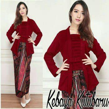 Atasan Kebaya Mata Batu jual baju kebaya kutubaru merah marun baju atasan wanita