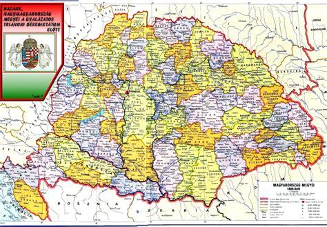0x251 antik nagy magyarország térkép kirakó tábla egyéb régiség title_img10. Tények Erődje: NAGY MAGYARORSZÁG címere és megyéi.