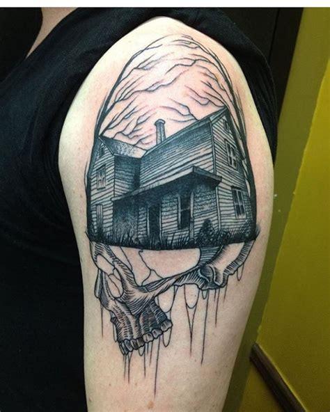 haunted house tattoo designs ideas design trends