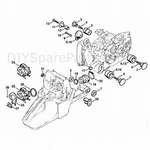 Stihl Ms 440 Chainsaw  Ms440 N  Parts Diagram  Av System