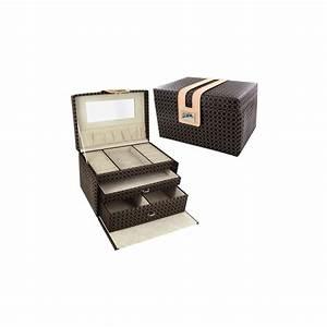 Coffret A Bijoux : coffret bijoux luxe marron d 39 or et d 39 argent ~ Teatrodelosmanantiales.com Idées de Décoration