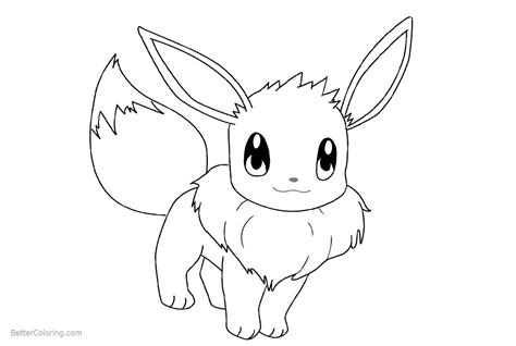 draw eevee coloring pages  printable coloring