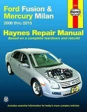 service manuals schematics 2010 ford fusion user handbook 2006 2010 ford fusion mercury milan repair manual owners book service