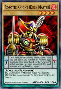 robotic knight deck master by yugiohfreakster on deviantart