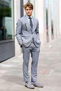 Blauer Anzug Schuhe : 1001 ideen thema grauer anzug welches hemd passt dazu herrenmode pinterest herren mode ~ Frokenaadalensverden.com Haus und Dekorationen