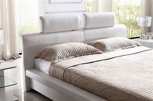 Lit En Cuir : lit design en cuir italien de luxe belio blanc mobilier priv ~ Teatrodelosmanantiales.com Idées de Décoration