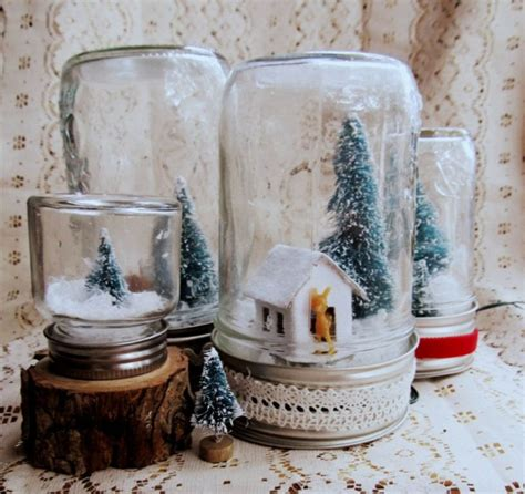 schneekugeln selber basteln schneekugel selber machen deko feiern diy weihnachtsdeko ideen zenideen