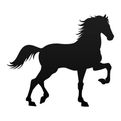 mustang horse silhouette decal sticker horse mustang silhouette jumping wild west