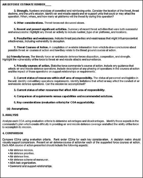 fm   appendix  army air defense planning