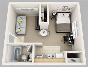 le plan appartement d39un studio 50 idees originales With comment meubler un petit studio 6 petit appartement plans conseils amenagement