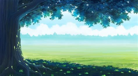 Forest Anime Wallpaper - 2560x1440 anime landscaope forest grass